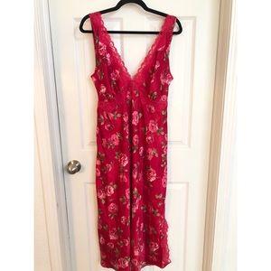 Gorgeous vintage red slip dress